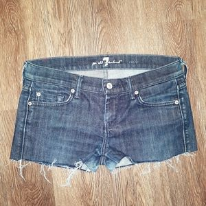 7 For All Mankind Size 28 Edie Cut Off Shorts